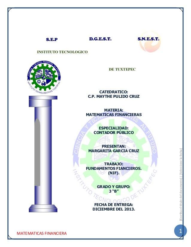D.G.E.S.T.  S.E.P  S.N.E.S.T.  INSTITUTO TECNOLOGICO  DE TUXTEPEC  IT  X  U  TE  ST  PE  C  IN  TO  TE C  N OL O GI C O D ...