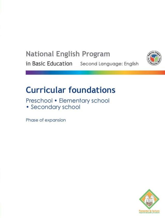 Fundamentos Curriculares - Curricular Foundations PNIEB