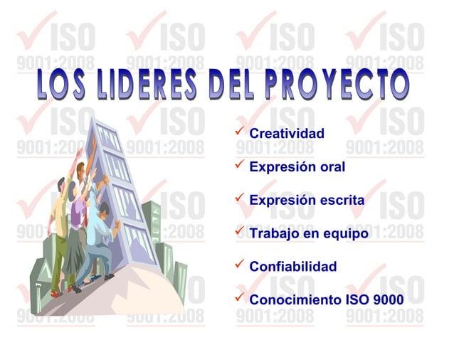  Sensibilización  ISO 9000. Fundamentación  Planificación de la Calidad  Herramientas de Mejoramiento y Análisis de Da...