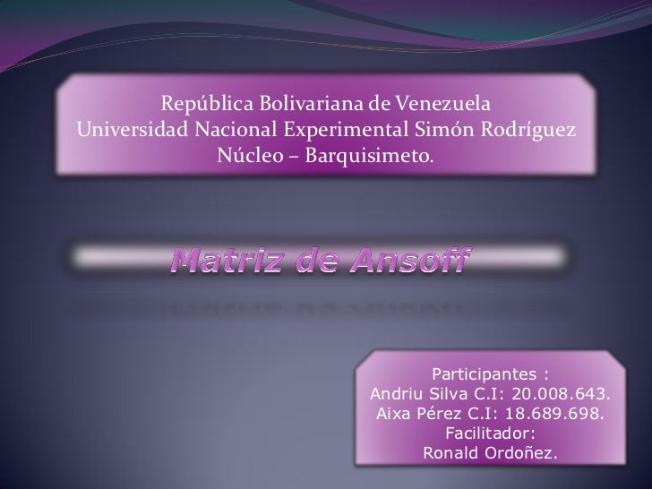 República Bolivariana de VenezuelaUniversidad Nacional Experimental Simón Rodríguez              Núcleo – Barquisimeto.   ...