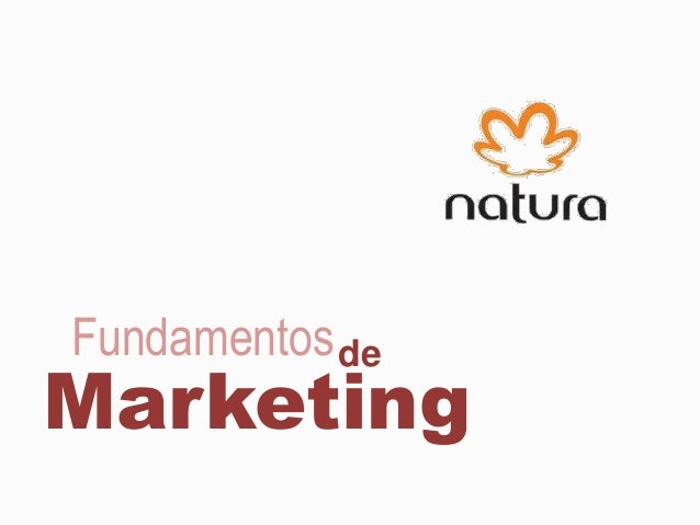 de Marketing Fundamentos