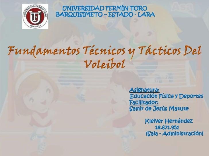 UNIVERSIDAD FERMÍN TOROBARQUISIMETO – ESTADO - LARA                    Asignatura:                    Educación Física y D...
