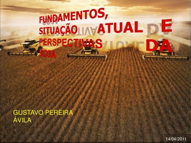 FUNDAMENTOS, SITUAÇÃO  ATUAL E PERSPECTIVAS DA  SOJA<br />GUSTAVO PEREIRA ÁVILA<br />14/04/2011<br />
