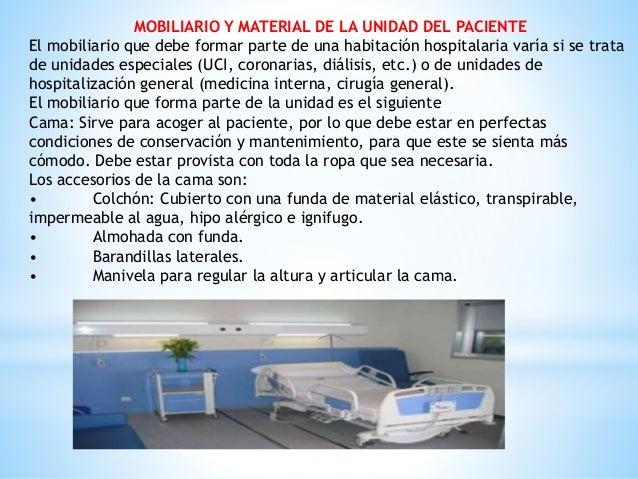 Caracter sticas de la unidad del paciente unidad del for Caracteristicas del mobiliario