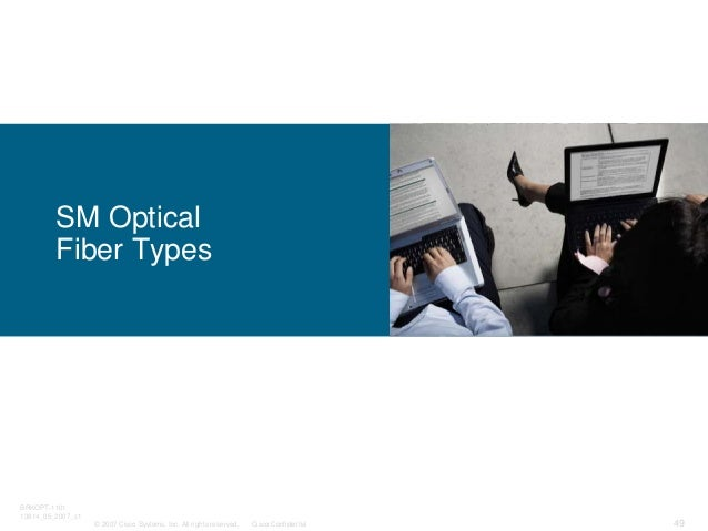 © 2007 Cisco Systems, Inc. All rights reserved. Cisco Confidential BRKOPT-1101 13814_05_2007_c1 49 SM Optical Fiber Types