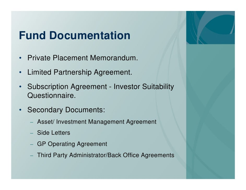Fund Formation Introduction