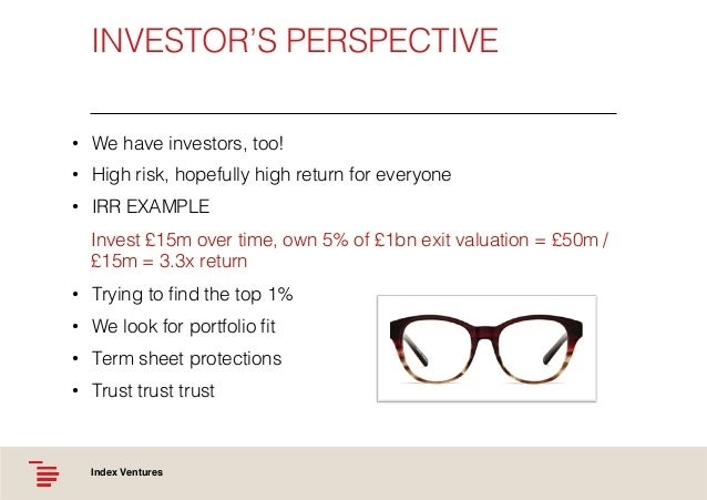 Investor S Perspective We Have