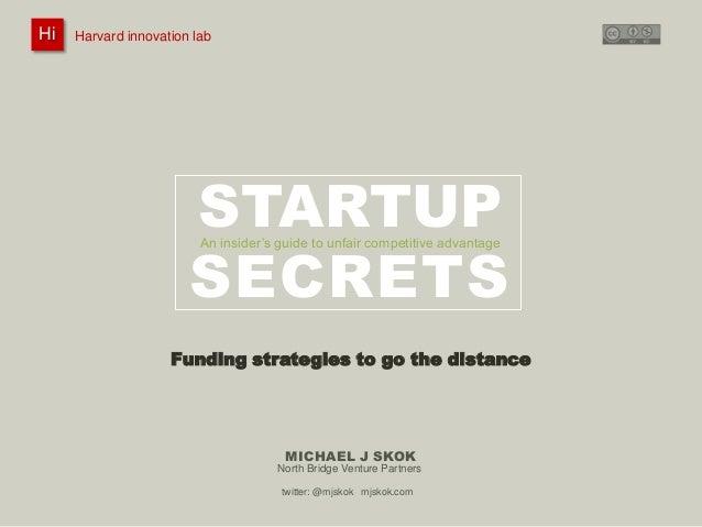 Hi Hi  Harvard innovation lab : #innovationlab  Michael J Skok :  Startup Secrets :  Company Formation  @mjskok  Harvard i...