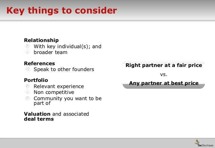 Key things to consider <ul><li>Relationship </li></ul><ul><ul><li>With key individual(s); and  </li></ul></ul><ul><ul><li>...