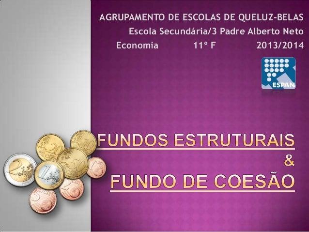 AGRUPAMENTO DE ESCOLAS DE QUELUZ-BELAS Escola Secundária/3 Padre Alberto Neto Economia 11º F 2013/2014