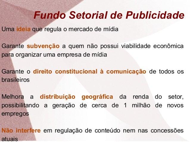 Fundo setorial de publicidade   apresentação Slide 2