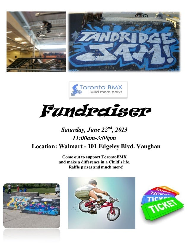 FundraiserSaturday, June 22nd, 201311:00am-3:00pmLocation: Walmart - 101 Edgeley Blvd. VaughanCome out to support TorontoB...