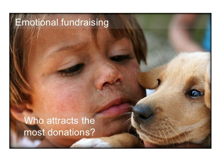 Who attracts the most donations? Emotional fundraising