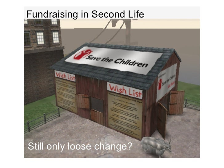 Fundraising in Second Life Still only loose change?