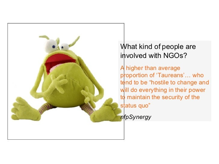 """What kind of people are involved with NGOs? A higher than average proportion of 'Taureans'… who tend to be """"hostile to cha..."""