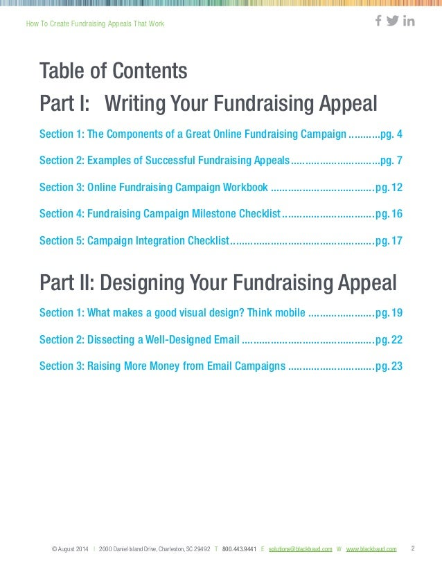 How To Write Fundraising Appeals That Work Guide