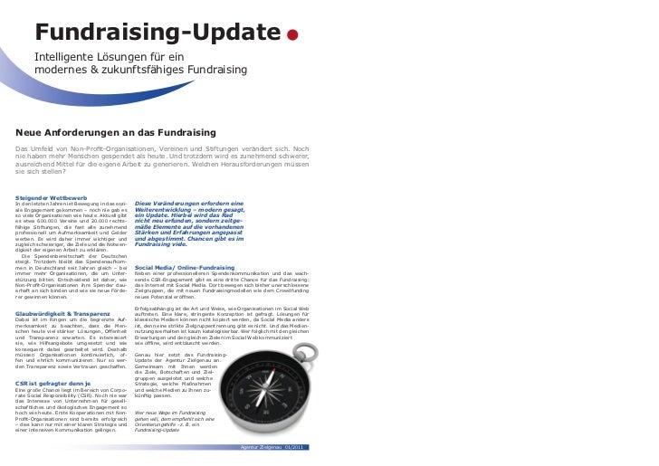 Fundraising-Update       Intelligente Lösungen für ein       modernes & zukunftsfähiges FundraisingNeue Anforderungen an d...