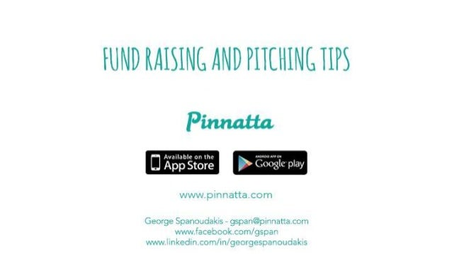 Fund raising and pitching tips