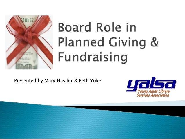 Presented by Mary Hastler & Beth Yoke