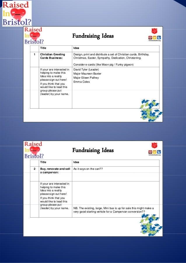 Fundraising ideas pdf 6th november 2012 fundraising ideas title idea1 christian greeting design spiritdancerdesigns Choice Image