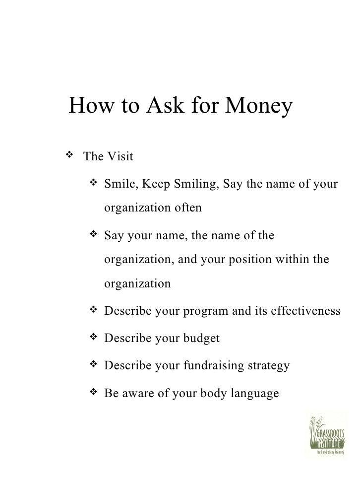 fundraising presentation