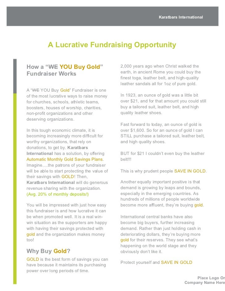 fundraiser a proposal to client month day year 2