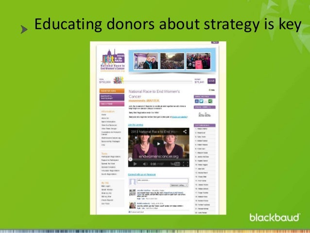 Educating donors about strategy is key