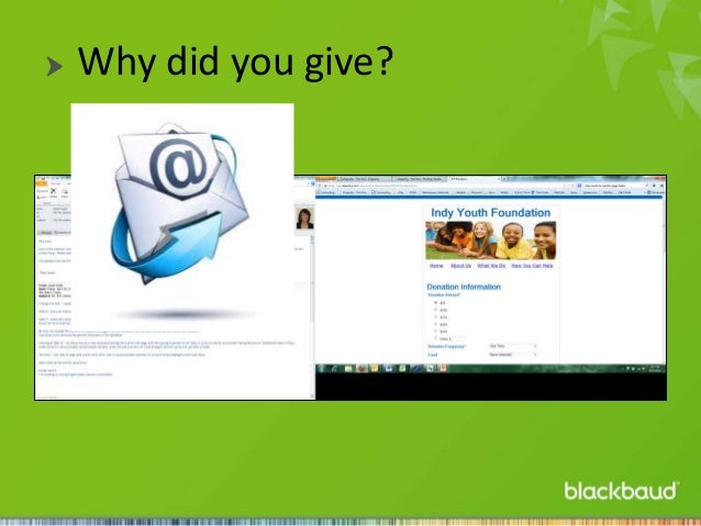 Why did you give?