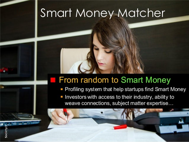 20© Copyright Society3 2015 Copying or distribution is prohibited #Society3 Smart Money Matcher From random to Smart Money...