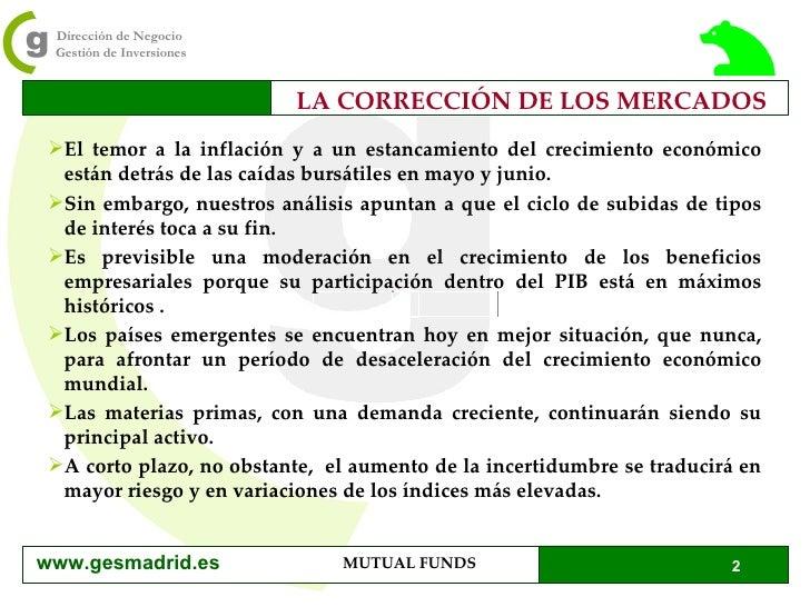 LA CORRECCIÓN DE LOS MERCADOS <ul><li>El temor a la inflación y a un estancamiento del crecimiento económico están detrás ...
