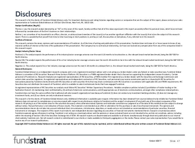 Disclosures This research is for the clients of Fundstrat Global Advisors only. For important disclosures and rating histo...