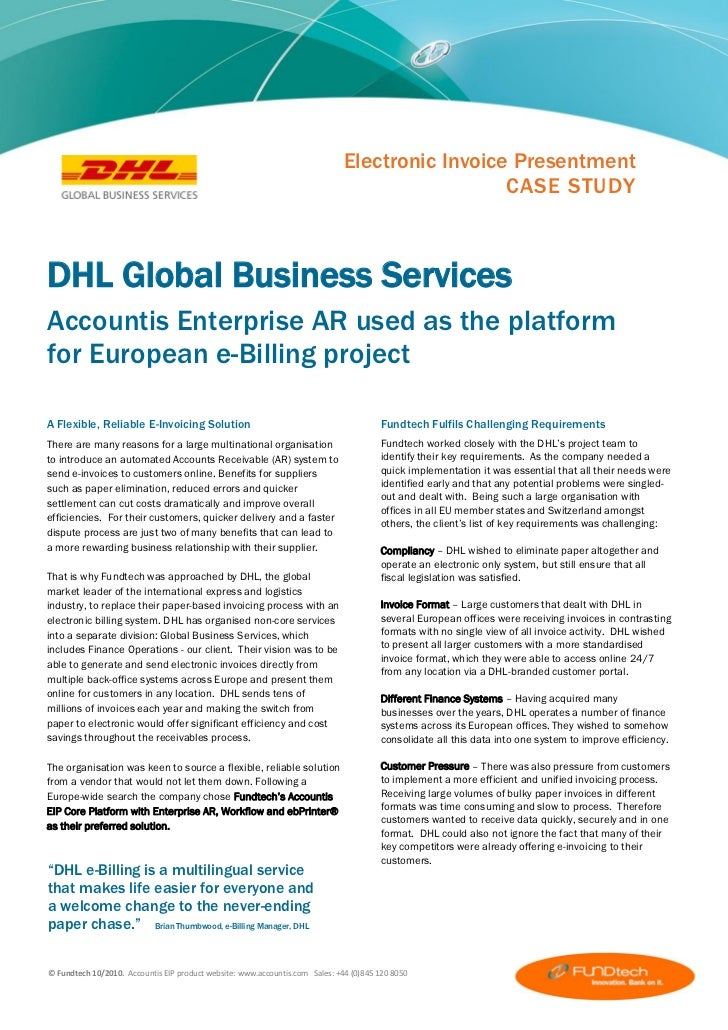 dhl case study At dhl we meet these challenges head on - collaborating and innovating solutions in partnership with you contact our experts our public sector solutions & expertise.