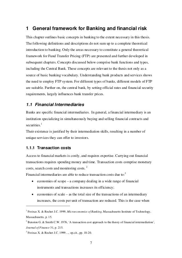 thesis commercial bank Role of commercial bank in the economic development of india commercial bank can also refer to a bank or a division of a bank that.