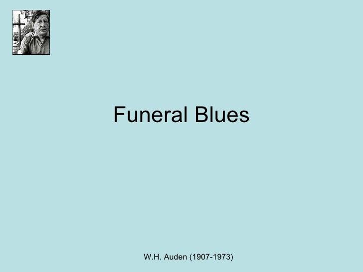 Funeral Blues Homework