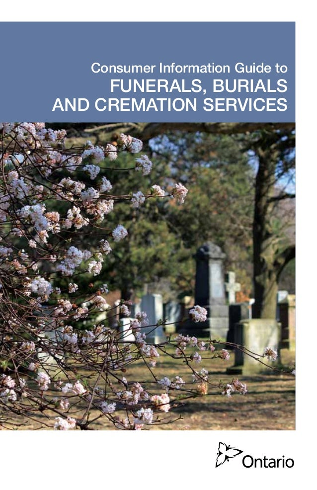 Consumer Information Guide to Funerals, Burials And Cremation Services