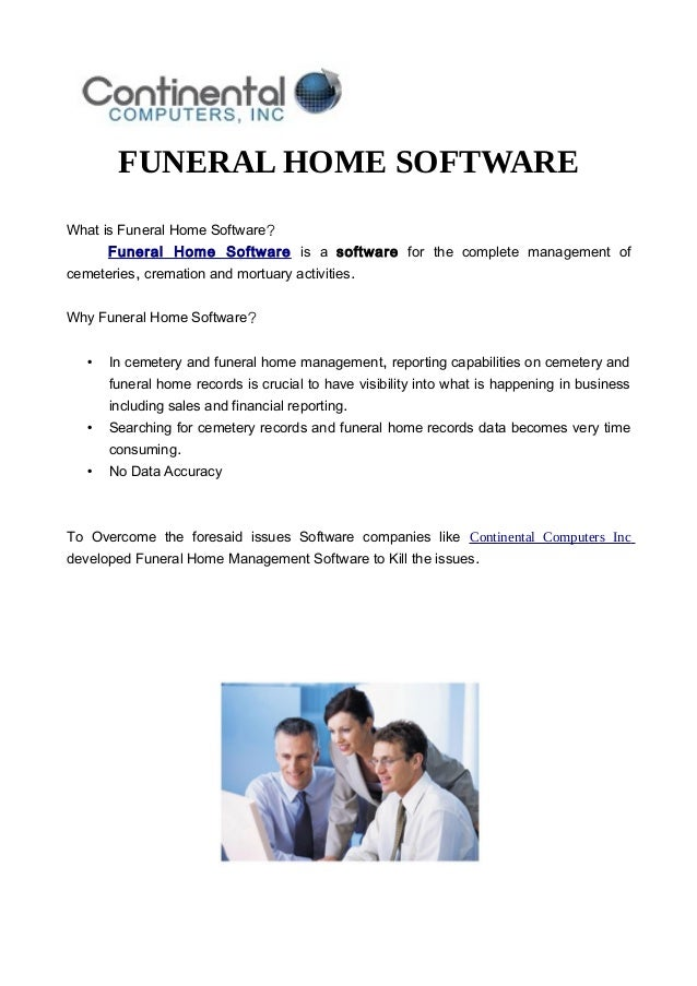 Funeral Home Software