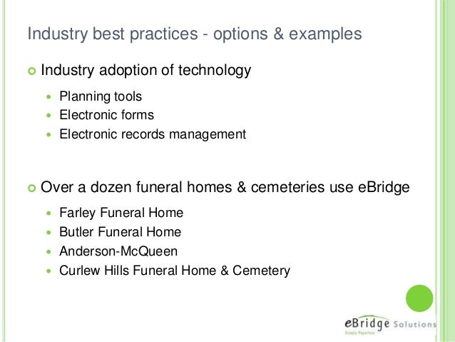 Document Management For The Funeral Industry
