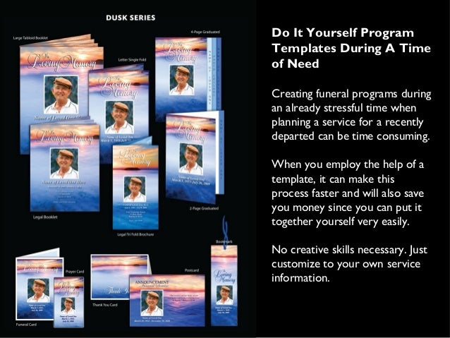Do It Yourself Program Templates During A Time Of Need Creating Funeral  Programs During An Already ...  Printable Program Templates