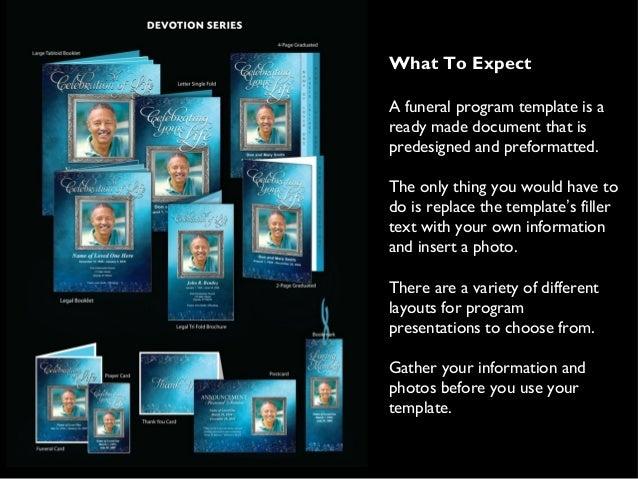 Printable Funeral Programs Templates – Free Printable Funeral Programs Templates