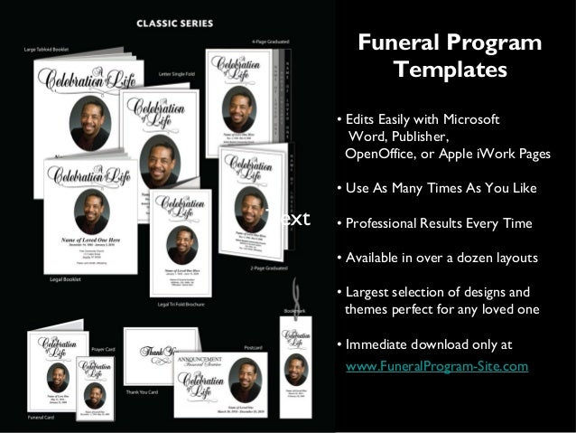 Funeral Program Templates ...  Printable Funeral Program Templates