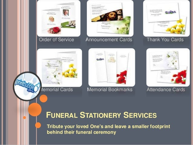 Funeral Stationery Services