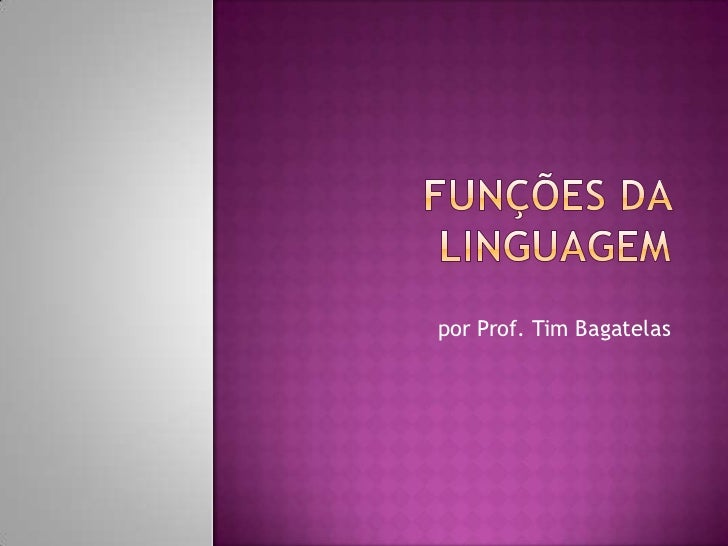 por Prof. Tim Bagatelas