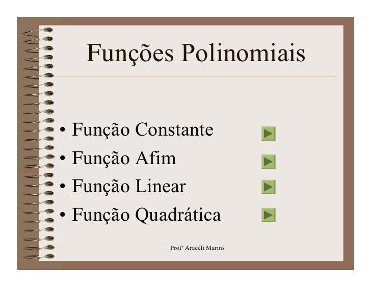FunçõEs Polinomiais Slide 2