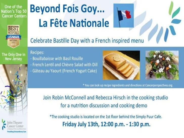FunFoodFriday- French Style