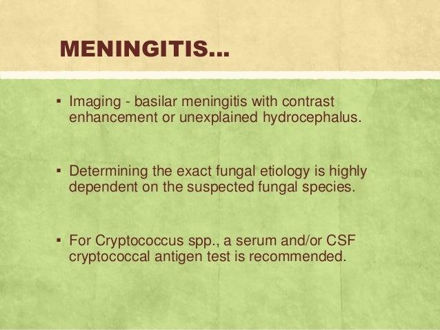 Testing for cryptococcal meningitis medscape