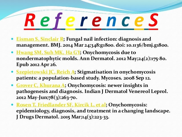 Hoy NY, Leung AK, Metelitsa AI, et al; New concepts in median nail dystrophy, onychomycosis, and hand, foot, and mouth dis...
