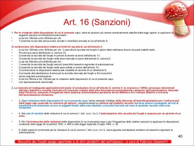 Art. 16 (Sanzioni) 1. Per le violazioni delle disposizioni di cui al presente capo, salve le sanzioni più severe eventualm...
