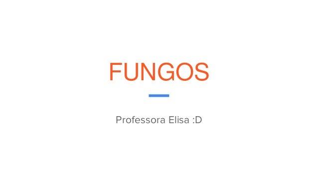 FUNGOS Professora Elisa :D