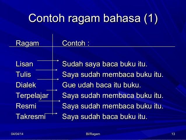 Fungsi Dan Ragam Bahasa Indonesia