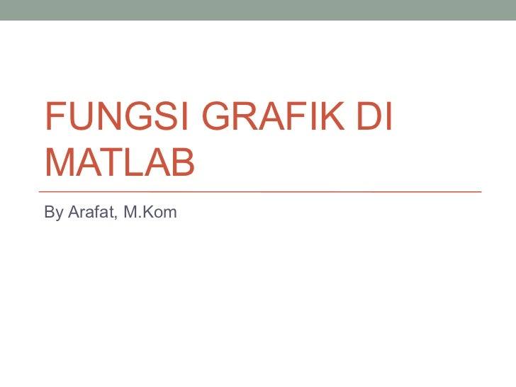 FUNGSI GRAFIK DIMATLABBy Arafat, M.Kom